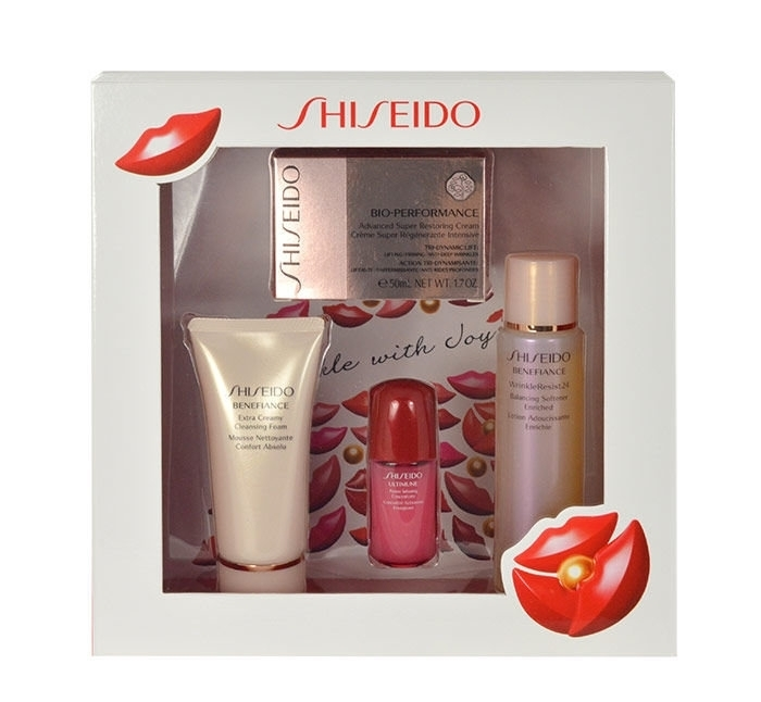 Shiseido Bio-performance Advanced Super Restoring Day Cream 50ml Combo: 50ml Bio-performance Restoring Cream + 50ml Benefiance Cleansing Foam + 75ml Benefiance Softener Enriched + 10ml Ultimune Power Inf.concentrate (All Skin Types - For All Ages)
