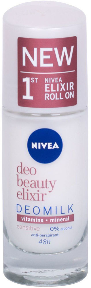 Nivea Deo Beauty Elixir Deomilk Sensitive Roll-on Antiperspirant 40ml (Roll-On - Alcohol Free)
