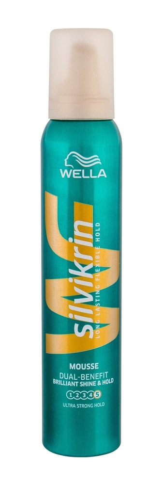 Wella Silvikrin Brilliant Shine Hold Hair Mousse 200ml (Extra Strong Fixation) oμορφια   μαλλιά   styling μαλλιών   αφροί μαλλιών