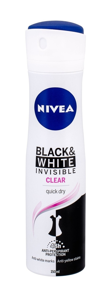 Nivea Invisible For Black & White 48h Antiperspirant 150ml (Deo Spray)