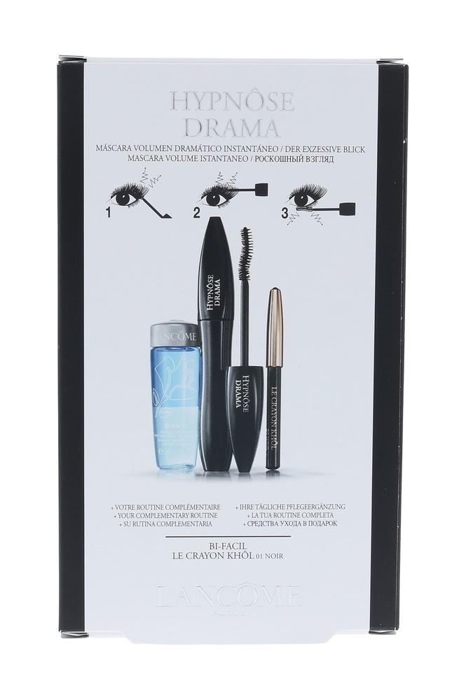 Lancome Hypnose Drama Mascara 6,5ml 01 Excessive Black Combo: Mascara Hypnose Drama 6,2 Ml + Eye Pencil Le Crayon Khol 0,7 G 01 Noir + Eye Makeup Remover Bi-facil 30 Ml