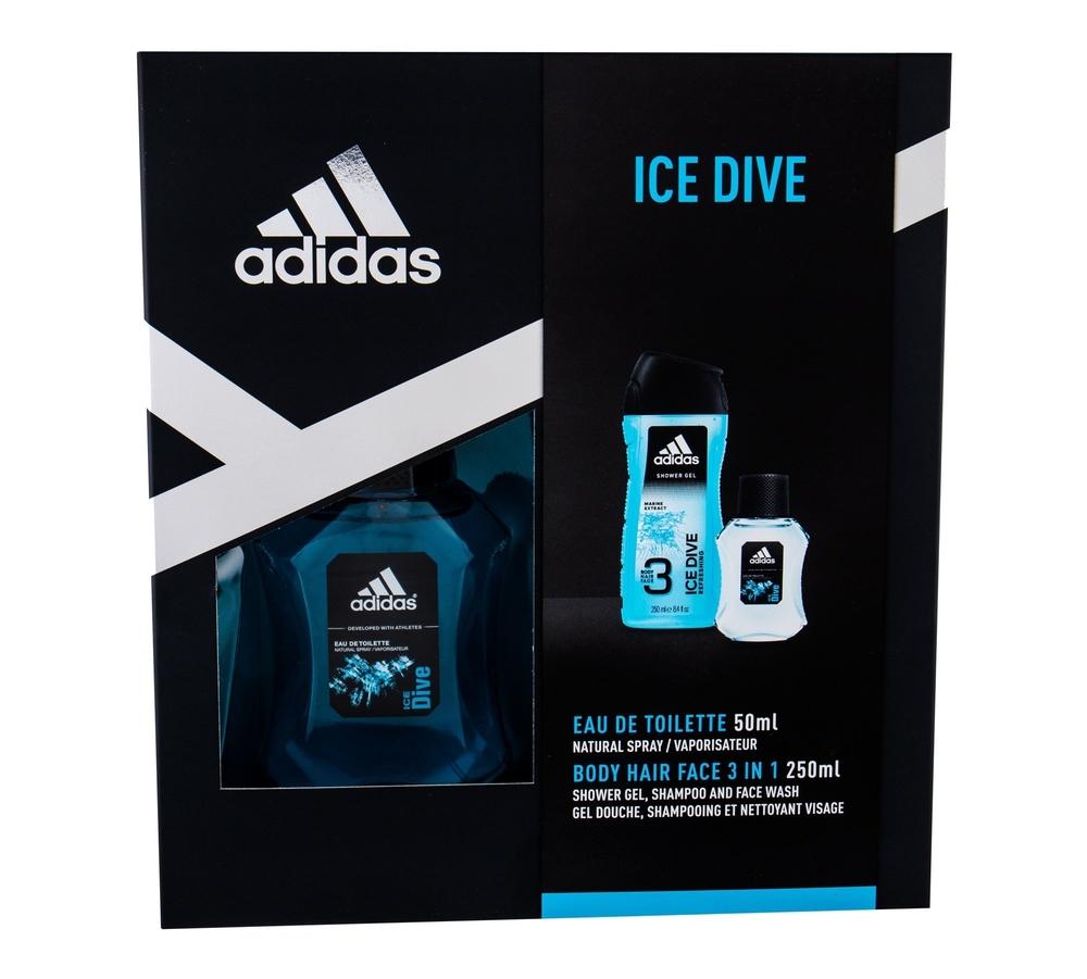 Adidas Ice Dive Eau De Toilette 50ml - Set