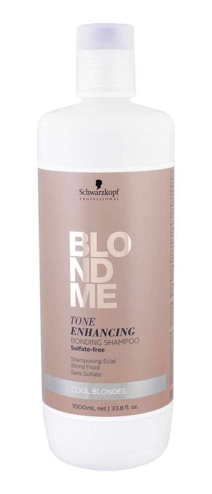 Schwarzkopf Blond Me Tone Enhancing Shampoo 1000ml Bonding Shampoo Cool Blondes (Blonde Hair)