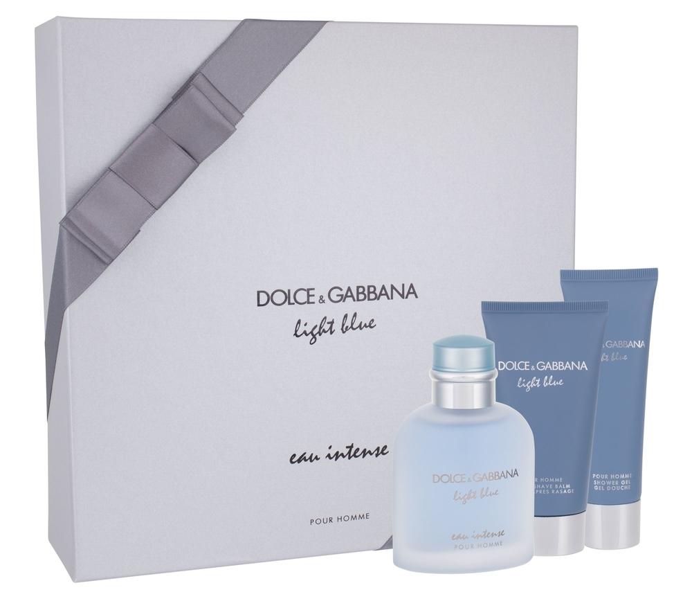 Dolce&gabbana Light Blue Eau Intense Pour Homme Eau De Parfum 100ml Combo: Edp 100 Ml + Shower Gel 50 Ml + Aftershave Balm 75 Ml
