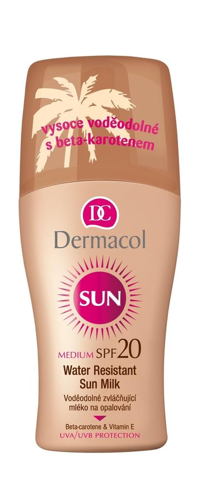 Dermacol Sun Milk Spray Spf20 Sun Body Lotion 200ml Waterproof oμορφια   αντηλιακή προστασία   αντηλιακά σώμα πρόσωπο   αντηλιακά