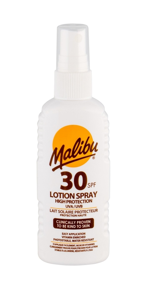 Malibu Lotion Spray Sun Body Lotion 100ml Waterproof Spf30