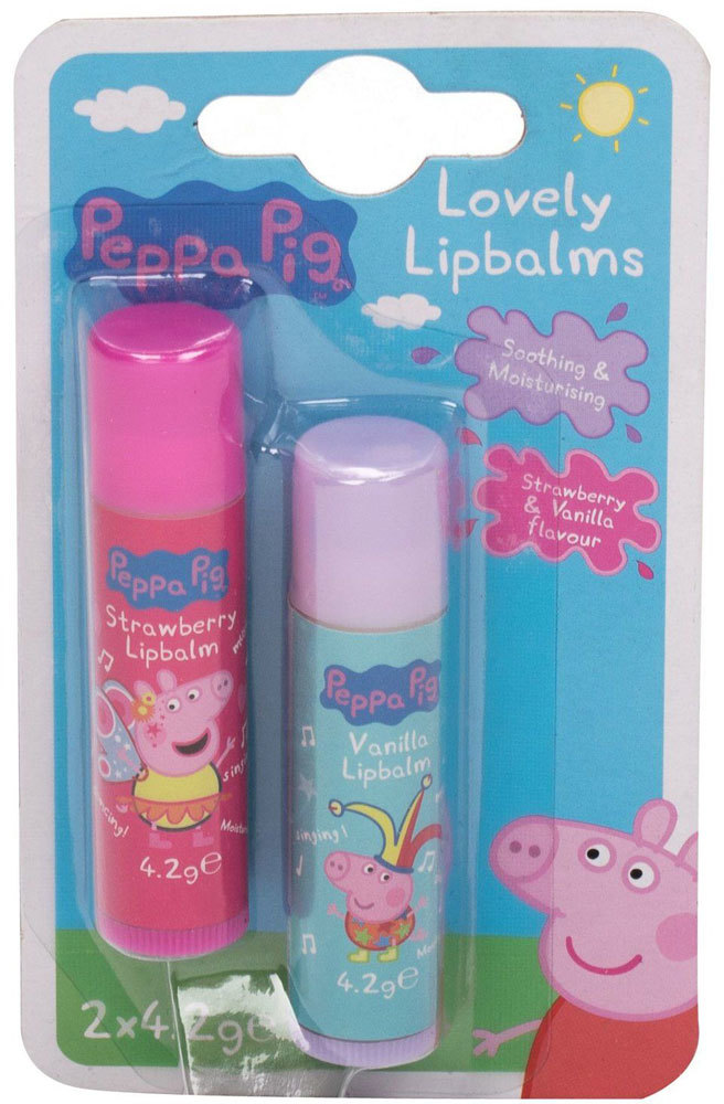 Peppa Pig Peppa Lovely Lip Balms Lip Balm Strawberry 4,2gr Combo: Lip Balm 4,2 G + Lip Balm 4,2 G Vanilla (For All Ages)