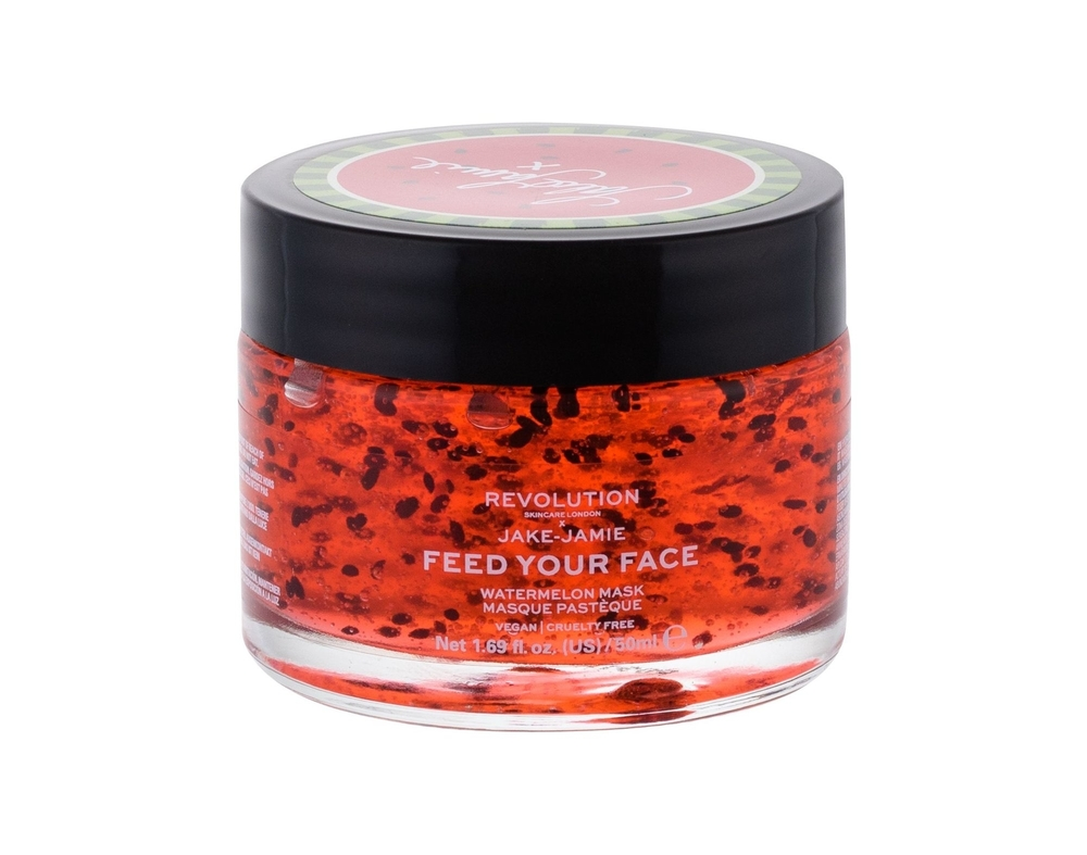 Makeup Revolution London Skincare X Jake-jamie Feed Your Face Face Mask 50pc Watermelon (All Skin Types - For All Ages)