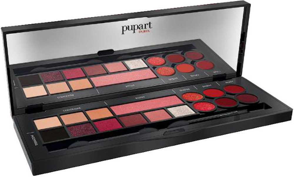 Pupa Pupart S Makeup Palette 001 Back To Red 9,1gr