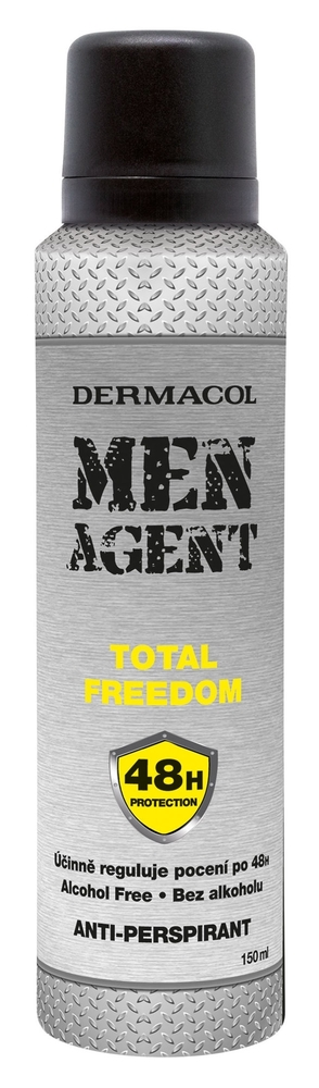 Dermacol Men Agent Total Freedom Antiperspirant 150ml Alcohol Free 48h (Deo Spray)
