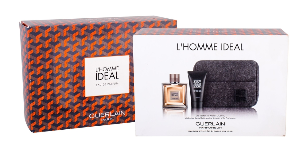 Guerlain L/homme Ideal Eau De Parfum 100ml Combo: Edp 100 Ml + Shower Gel 75 Ml + Cosmetic Bag