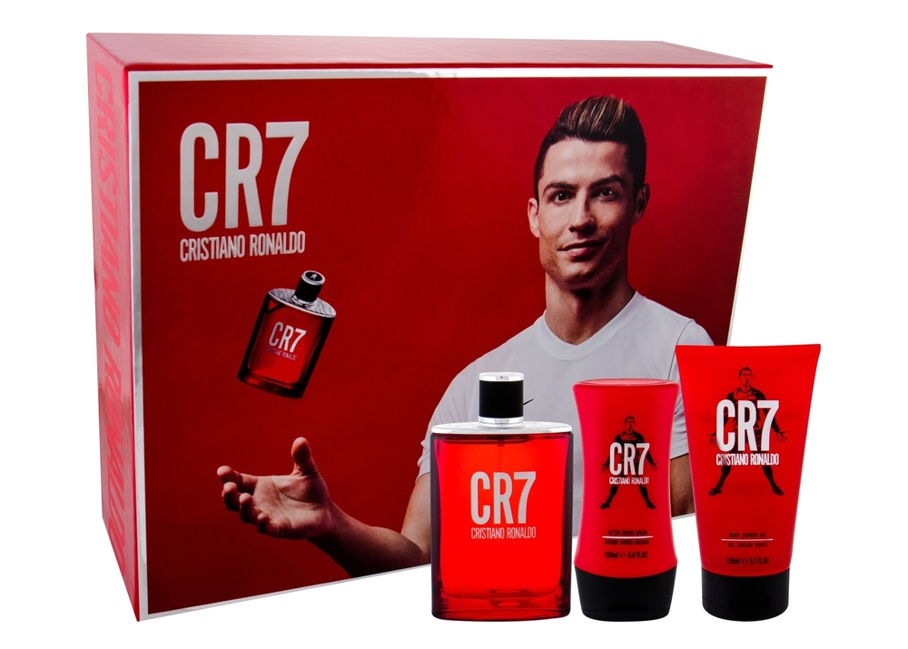 Cristiano Ronaldo Cr7 Eau De Toilette 100ml - Set Combo Edt 100 Ml + Shower Gel 150 Ml + Aftershave Balm 100 Ml