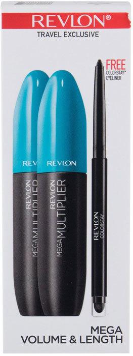 Revlon Mega Multiplier Mascara 801 Blackest Black 8,5ml Combo: Mascara 2 X 8,5 Ml + Eye Pencil Colorstay 0,28 G Black