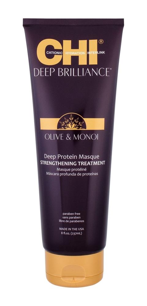Farouk Systems Chi Deep Brilliance Deep Protein Masque Hair Mask 237ml (Damaged Hair - Dry Hair)