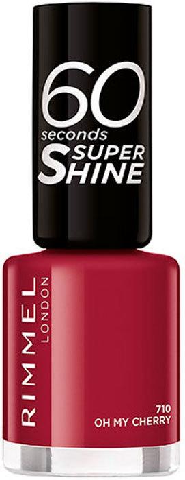 Rimmel London 60 Seconds Super Shine Nail Polish 710 Oh My Cherry 8ml