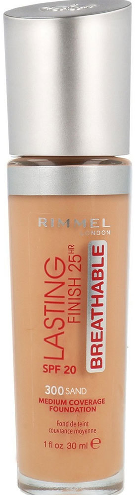 Rimmel London Lasting Finish Breathable 25HR SPF20 Makeup 300 Sand 30ml