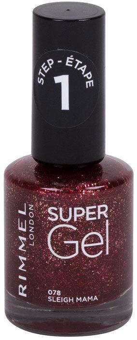 Rimmel London Super Gel STEP1 Nail Polish 078 Sleigh Mama 12ml