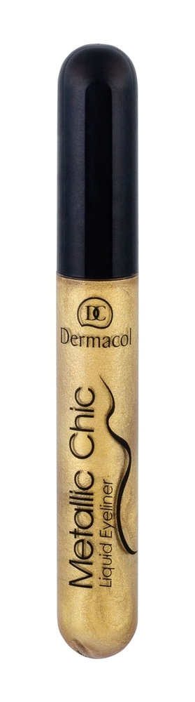 Dermacol Metallic Chic Eye Line 6ml 1 Gold (Liquid) oμορφια   μακιγιάζ   μακιγιάζ ματιών   eyeliners