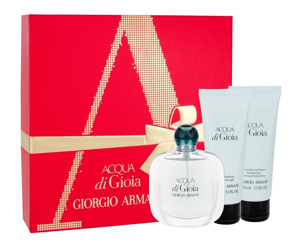 Giorgio Armani Acqua Di Gioia Eau De Parfum 50ml Combo: Edp 50ml + 75ml Body Lotion + 75ml Shower Gel