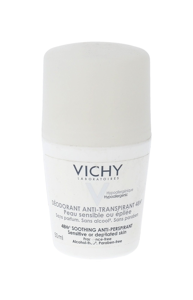 Vichy Deodorant 48h Soothing Antiperspirant 50ml Alcohol Free (Roll-on)