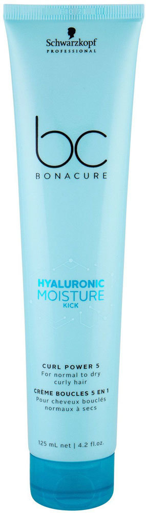 Schwarzkopf BC Bonacure Hyaluronic Moisture Kick Curl Power 5 Hair Mask 125ml (Curly Hair - Normal Hair - Dry Hair)
