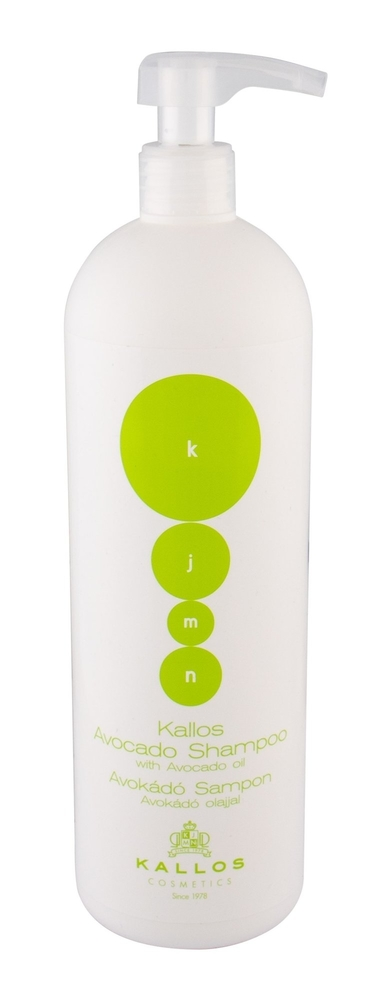 Kallos Cosmetics Avocado Shampoo 1000ml (Fine Hair - Damaged Hair - Dry Hair - Mature Hair)