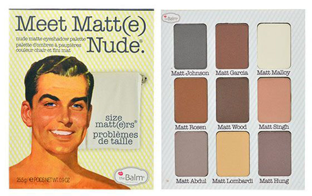 Thebalm Meet Matt(e) Nude Eyeshadow Palette Eye Shadow 25,5gr
