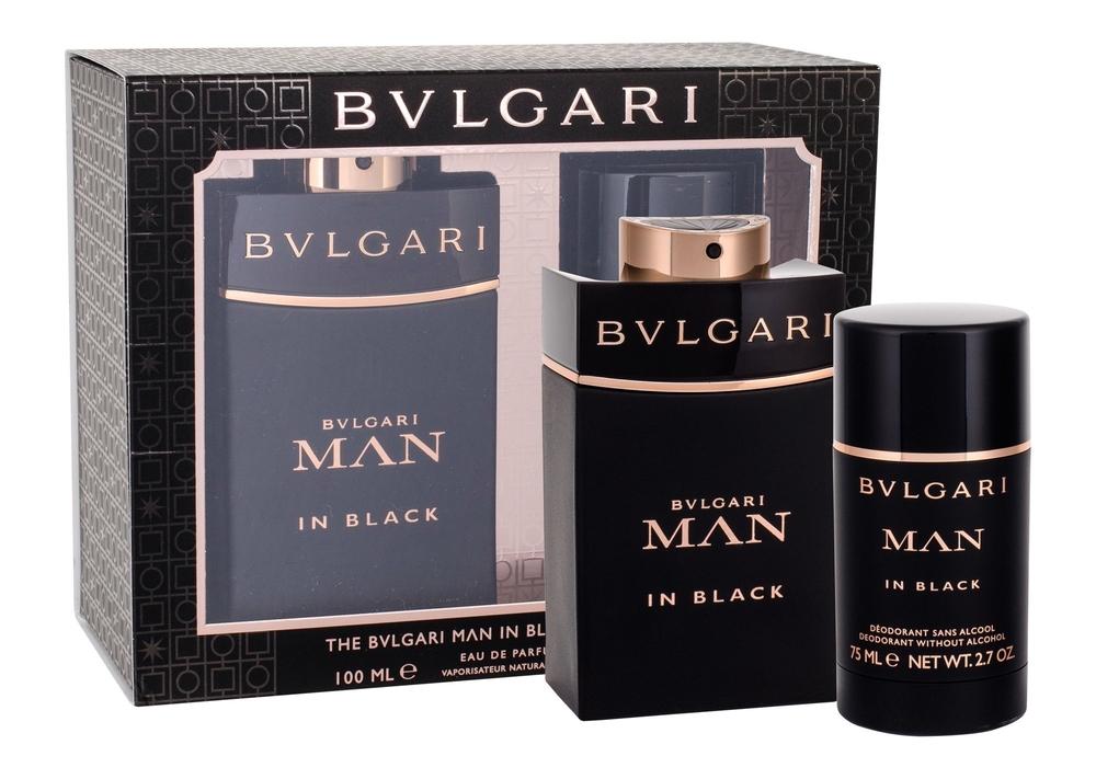 Bvlgari Man In Black Eau De Parfum 100ml Combo: Edp 100 Ml + Deostick 75 Ml