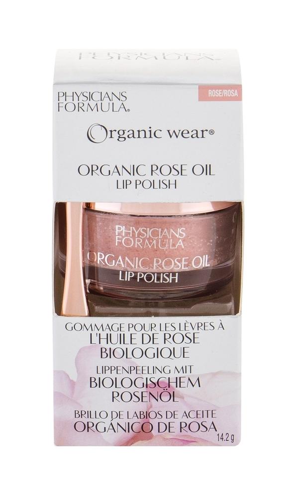 Physicians Formula Organic Wear Organic Rose Oil Lip Polish Peeling 14,2gr Rose (Bio Natural Product - All Skin Types)