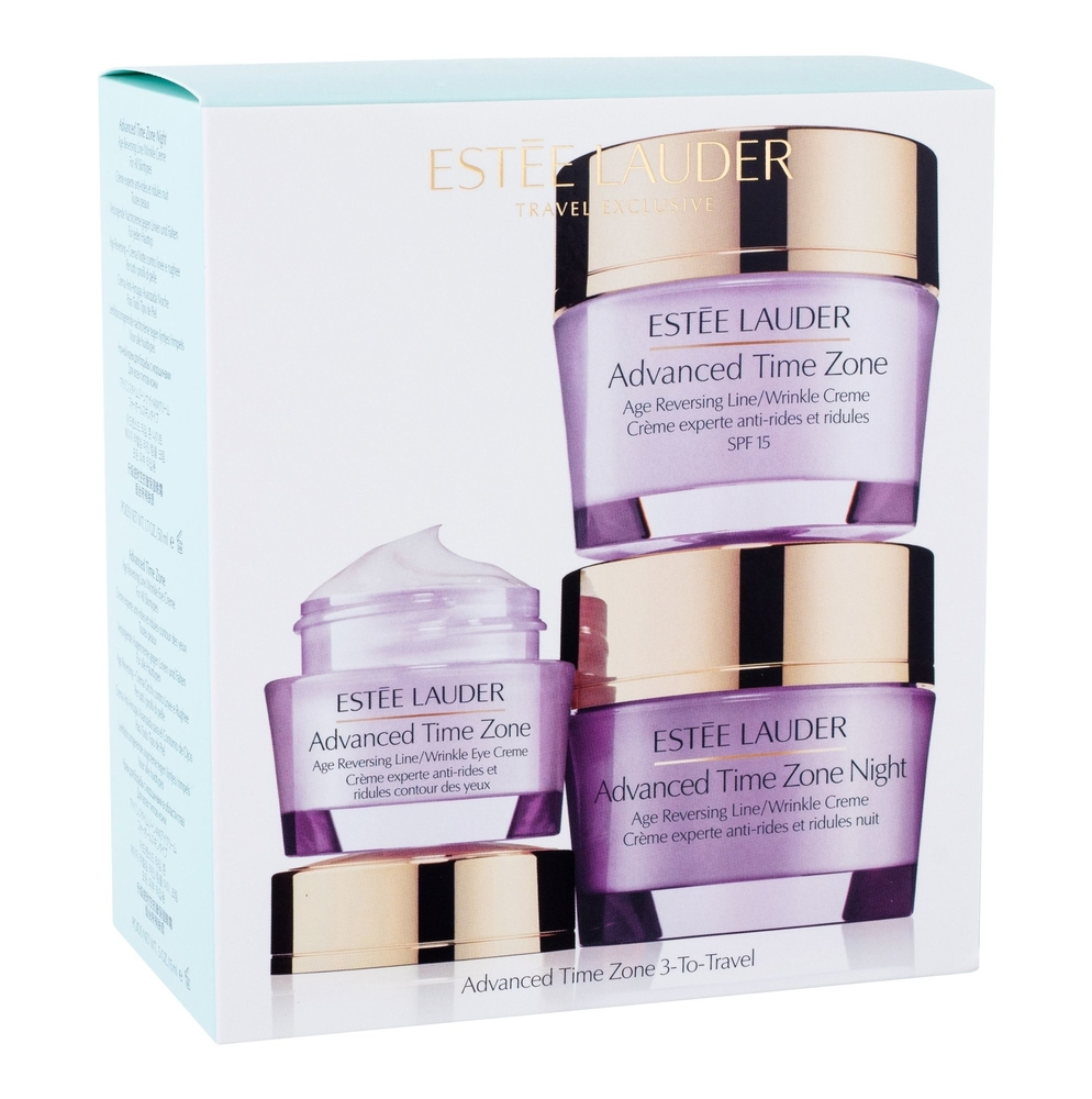 Estee Lauder Advanced Time Zone Day Cream 50ml Spf15 Combo: Daily Facial Care 50 Ml + Night Facial Care 50 Ml + Eye Surroundings 15 Ml (Wrinkles - All Skin Types)