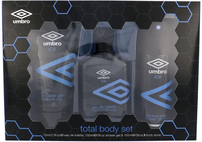 Umbro Ice Eau de Toilette 75ml Combo: EDT 75 Ml + Shower Gel 150 Ml + Deodorant 150 Ml