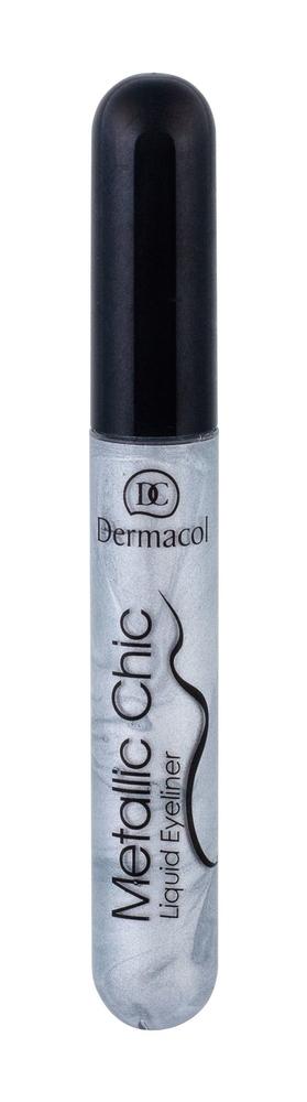 Dermacol Metallic Chic Eye Line 6ml 3 Silver (Liquid) oμορφια   μακιγιάζ   μακιγιάζ ματιών   eyeliners