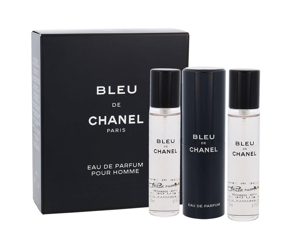 Chanel Bleu De Eau De Parfum 3x20ml Twist And Spray