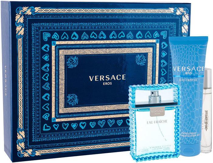 Versace Man Eau Fraiche Eau de Toilette 100ml Combo: Edt 100 Ml + Edt 10 Ml + Shower Gel 150 Ml