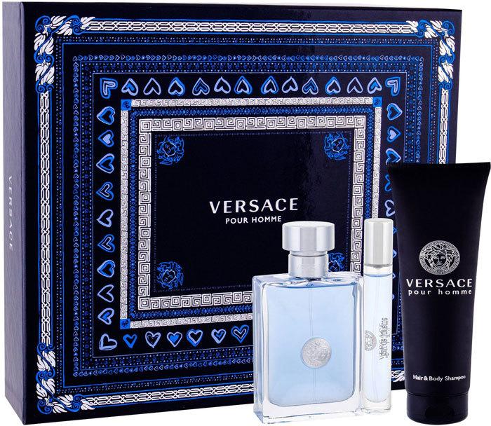 Versace Pour Homme Eau de Toilette 100ml Combo: Edt 100 Ml + Edt 10 Ml + Shower Gel 150 Ml