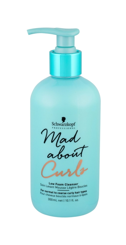 Schwarzkopf Mad About Curls Low Foam Cleanser Shampoo 300ml (Coarse Hair - Curly Hair)