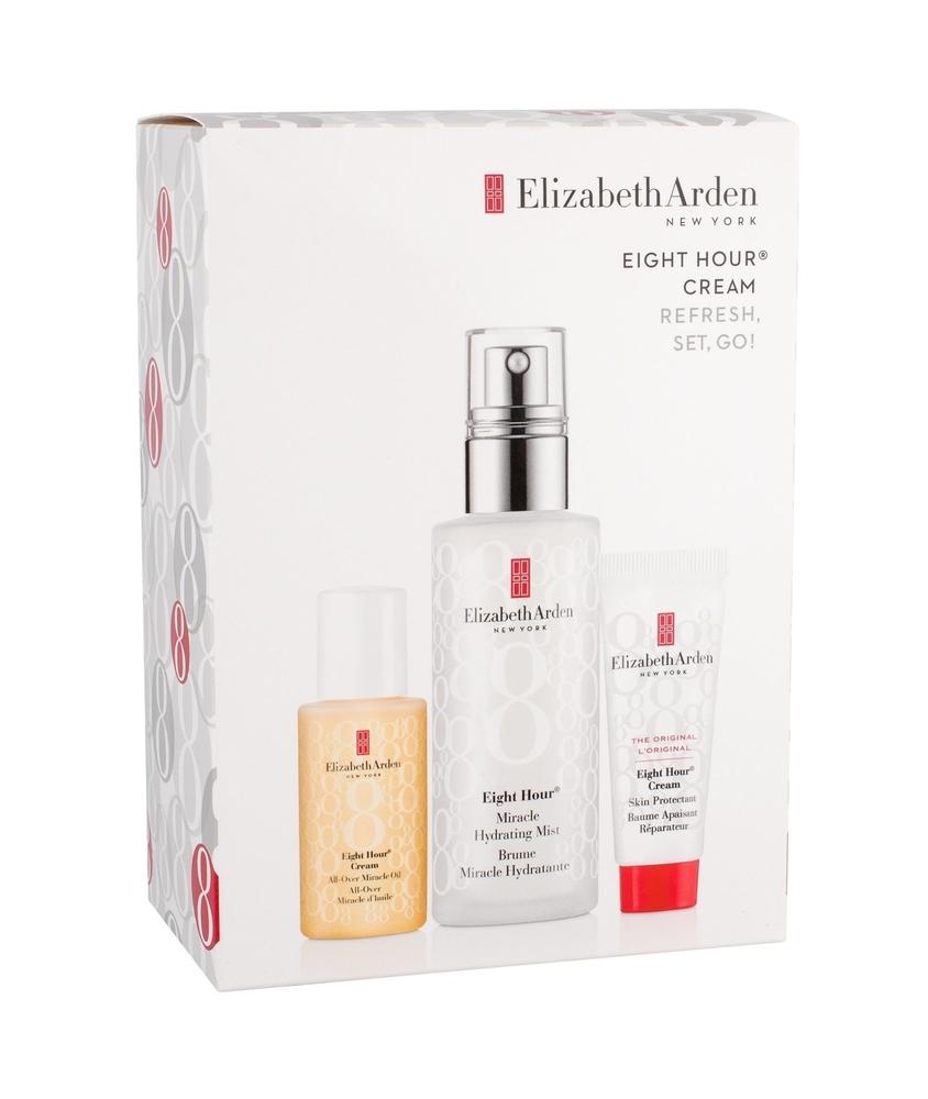 Elizabeth Arden Eight Hour Miracle Hydrating Mist Facial Lotion 100ml Combo: Moisture Mist 100 Ml + Moisture Oil 30 Ml + Protective Care 15 Ml (All Skin Types)