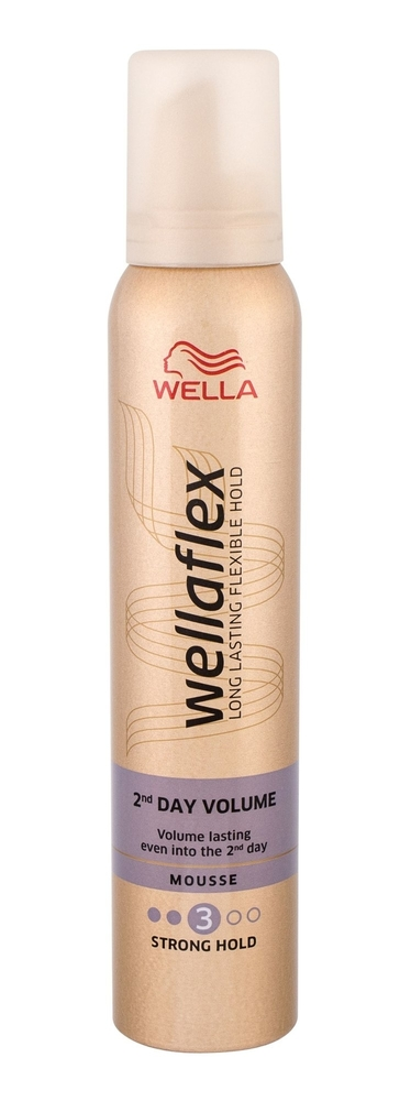 Wella Flex 2nd Day Volume Hair Mousse 200ml (Strong Fixation)