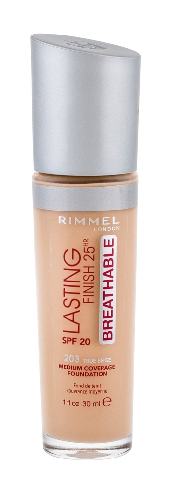 Rimmel London Lasting Finish Breathable Makeup 30ml 25hr Spf20 203 True Beige