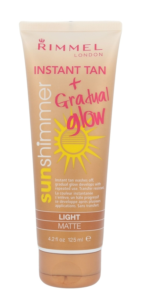 Rimmel London Sun Shimmer Instant Tan Gradual Glow Self Tanning Product 125ml Li oμορφια   αντηλιακή προστασία   μαύρισμα   self tanning