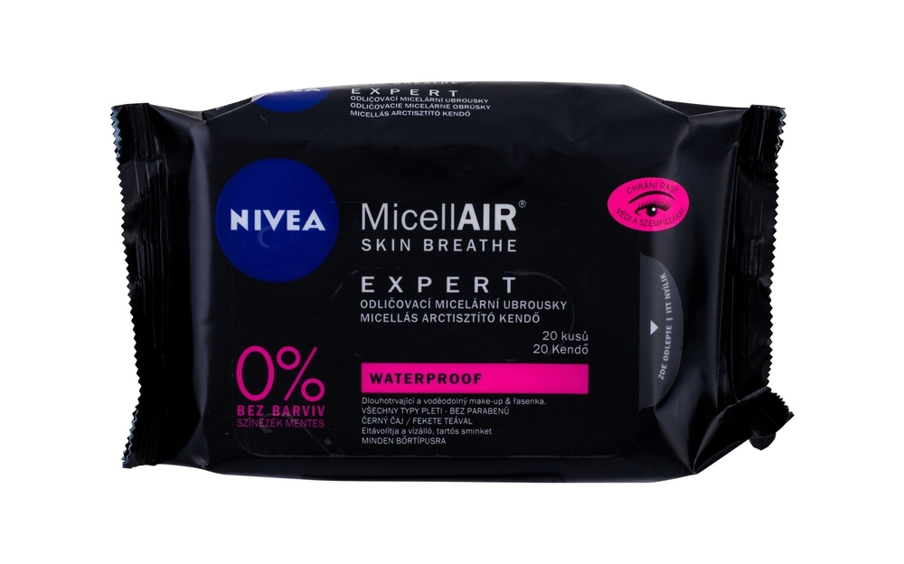 Nivea Micellair Expert Cleansing Wipes 20pc Waterproof