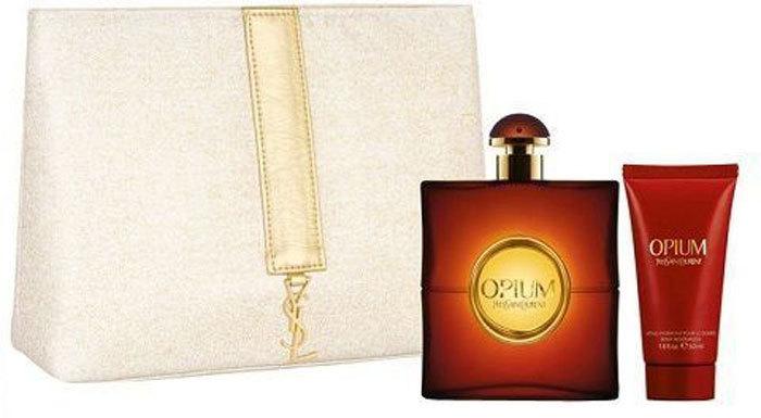 Yves Saint Laurent Opium 2009 Eau de Toilette 50ml Combo: Edt 50ml + 50ml Body Lotion + Cosmetic Bag