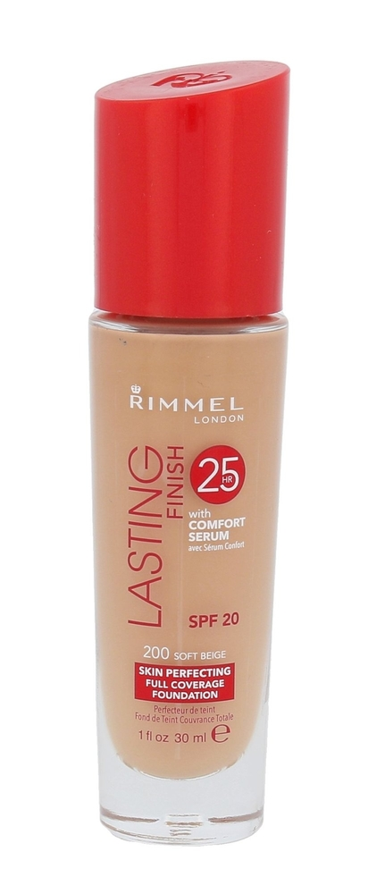 Rimmel London Lasting Finish 25hr Spf20 Makeup 30ml 200 Soft Beige