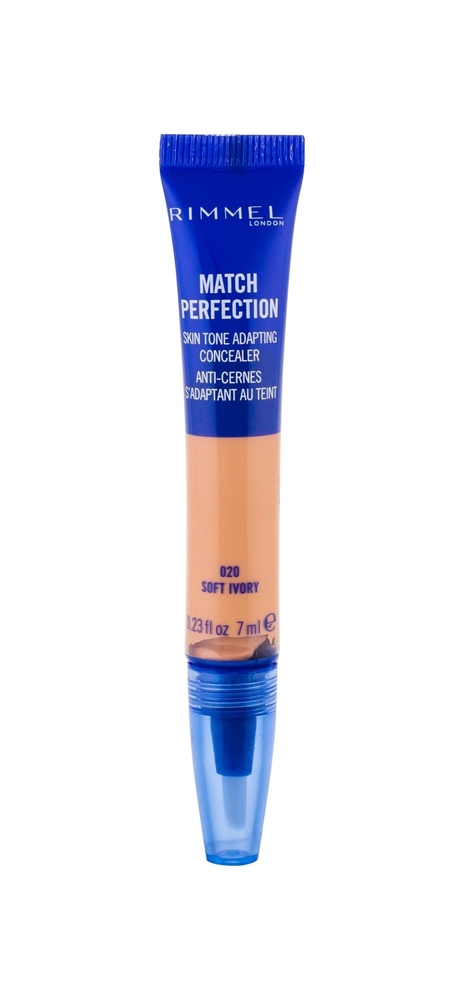 Rimmel London Match Perfection 2in1 Concealer Highlighter Corrector 7ml 020 Soft Ivory