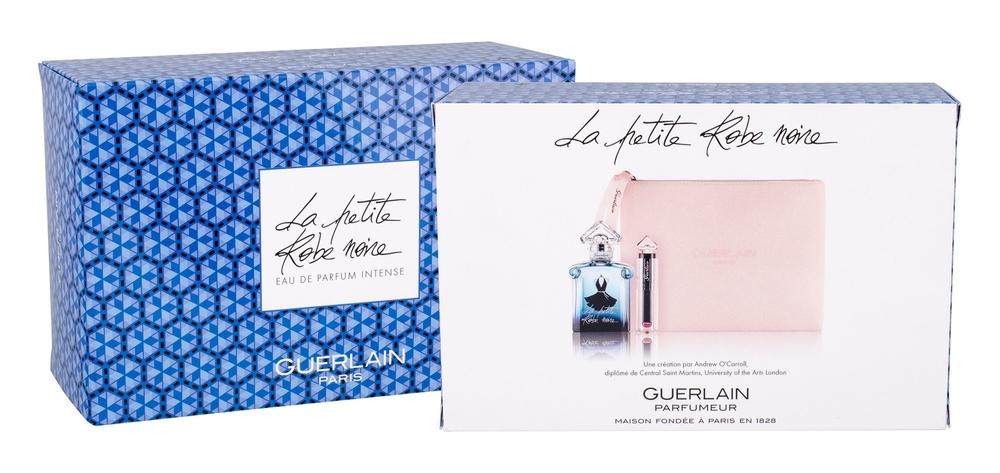 Guerlain La Petite Robe Noire Intense Eau De Parfum 50ml Combo: Edp 50 Ml + Liipstick La Petite Robe Noire Deliciously Shiny Lip Colour 068 Mauve Gloves 2,8 G + Cosmetic Bag