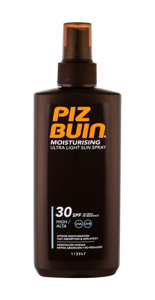 Piz Buin Moisturising Ultra Light Sun Spray Sun Body Lotion 200ml Waterproof Spf30
