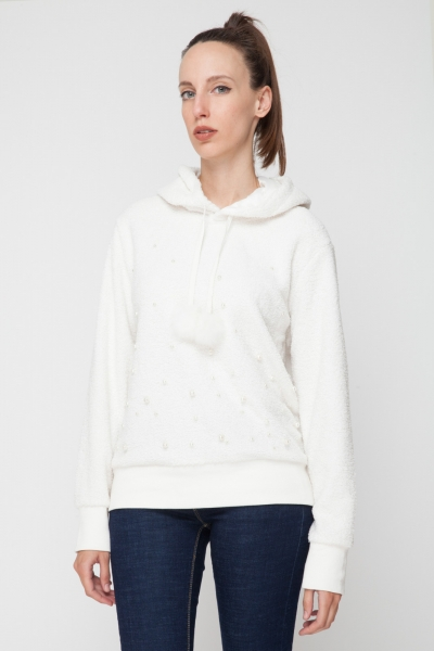 Hoodie with Pearls