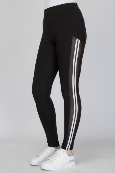 Two Stripe Sport Legging In Black
