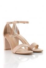 Heeled Sandals In Nude