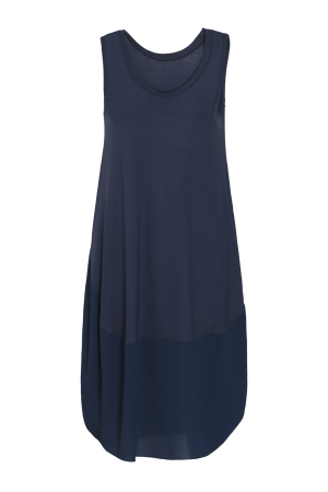 Navy Balloon Dress